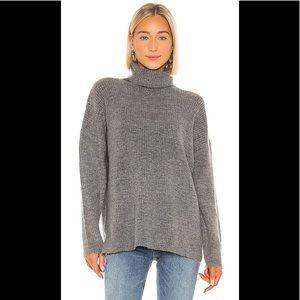 Lovers + Friends Gray Turtleneck Sweater